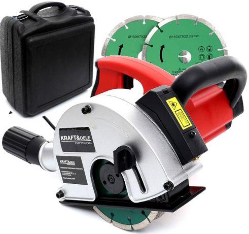Bruzdownica elektryczna KD1537 z laserem 3100W 150mm walizka 40mm