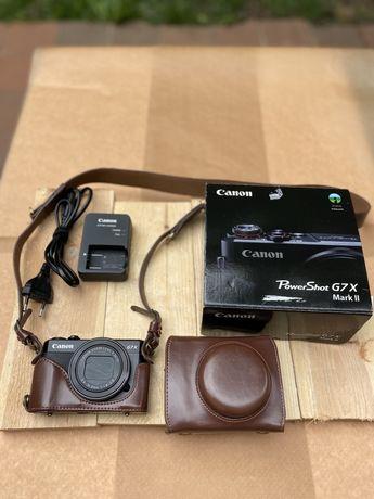 Canon G7x Mark II stan bdb. +  gratis skórzane etui
