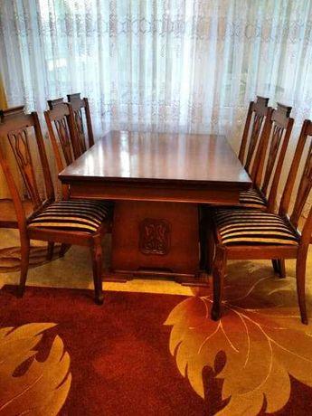 Komplet stół i 6 krzeseł