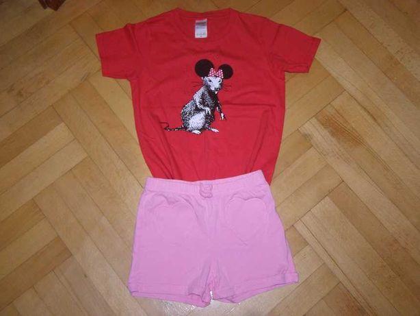 Стильный набор одежды: футболка с мышкой и шорты, на 5-6 лет