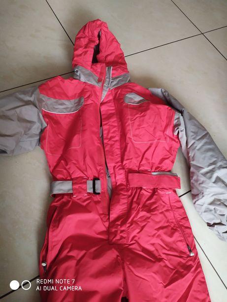 Kombinezon narciarski dziewczecy z kapturem Quechua