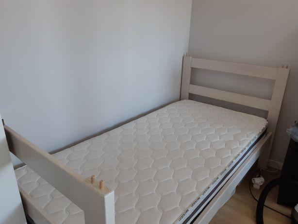Cama de solteiro branca 198x102 com ou sem colchão