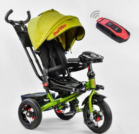 Трёхколёсный велосипед детский, Фара, Положение лежа, Надувные колеса
