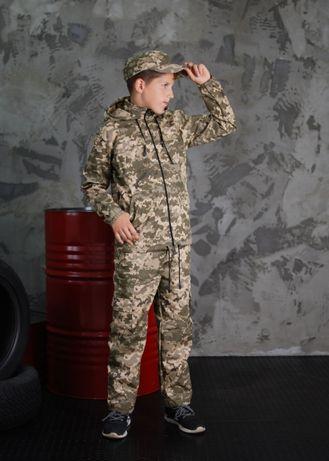 костюм камуфляжный детский утепленный