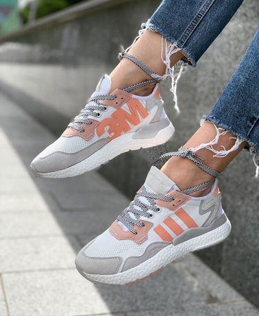 Adidas 3m nite jogger женские кроссовки белые
