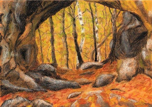 """obraz pastelowy """"Jesień"""""""
