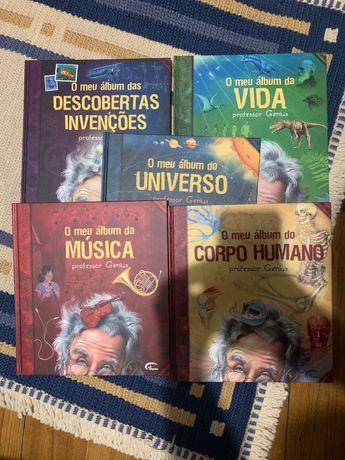 """Livros """"O meu Álbum"""" do Professor Genius"""