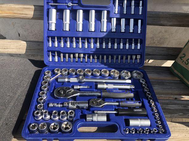 """Werker. Универсальный набор инструмента 1/4"""" & 1/2"""", 108 предм. (6 гра"""