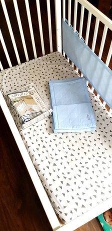 Ochraniacz do łóżeczka Little Linen Airwrap 2 elementowy, niebieski