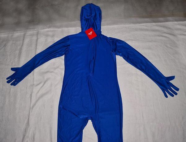Новый клоун аниматор Morphsuits обтягивающая вторая кожа синий гимнаст