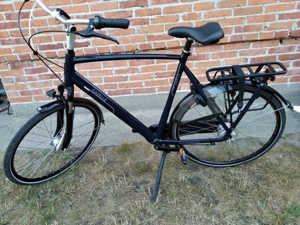 Holenderski rower gazelle Orange C7 plus kolor granatowy połysk