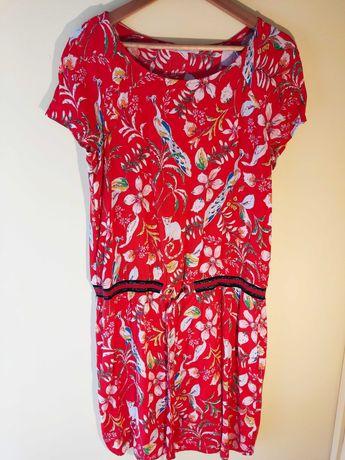 Vestido de verão vermelho Promod