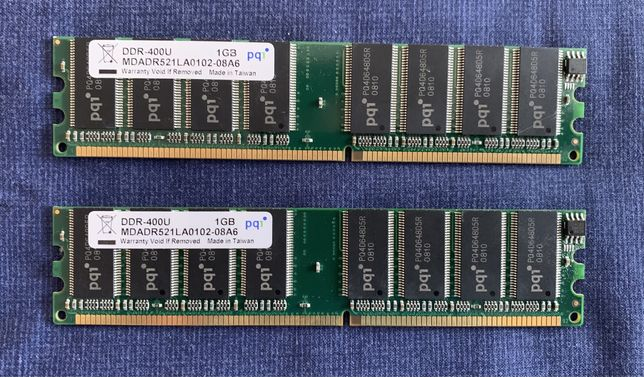 Memoria RAM DDR 1GB (2 unidades)