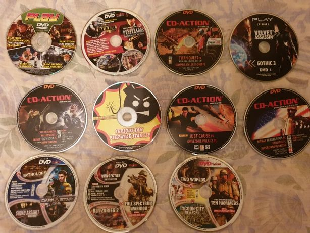 Płyty z CD Action i magazynu Play