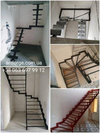 Лестница, Каркас лестницы от 15000 грн. Открытые лестницы. Перила.