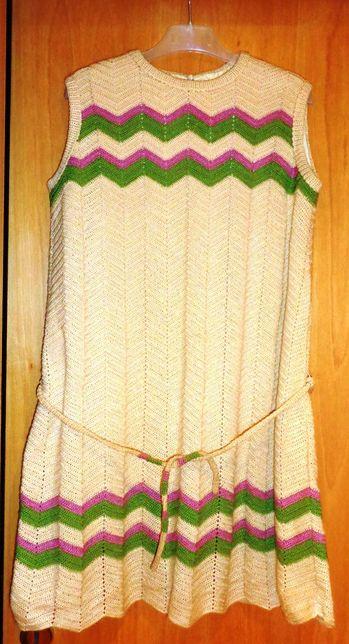 Vestido em crochet vintage