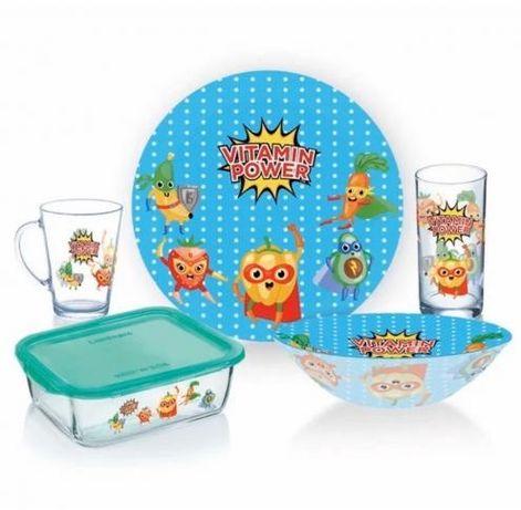 3 вида Набор детской посуды 5 предметов luminarc