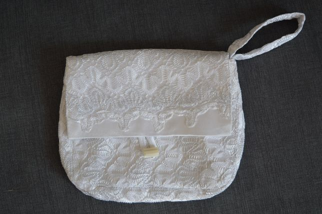 Torebka biała kopertówka - ślub