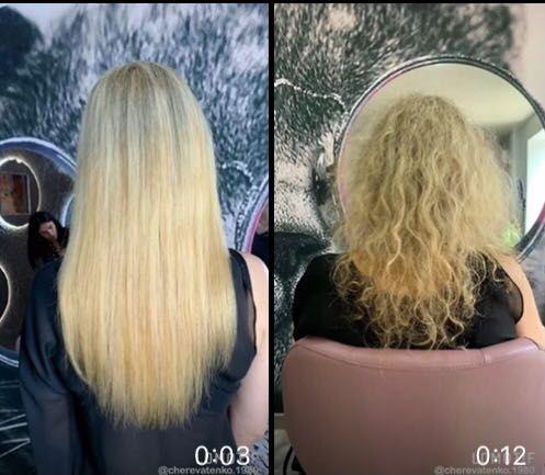 Наращиваю и перекапсулирую наращенные волосы