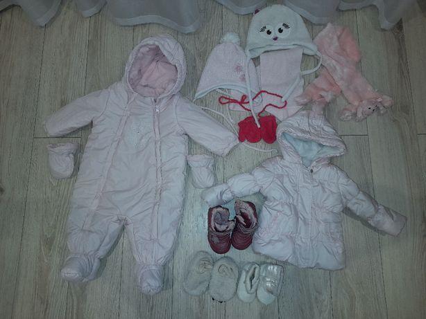 Kombinezon, kurtka, buty - zestaw dla niemowlaka rozmiar 74