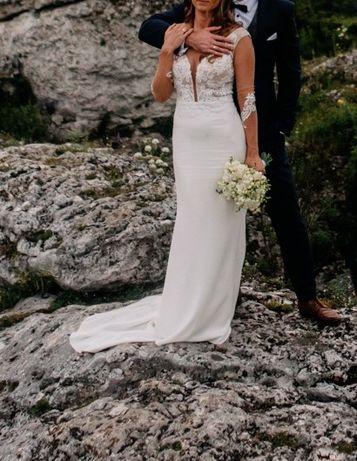 Suknia ślubna 34-36 + długi welon