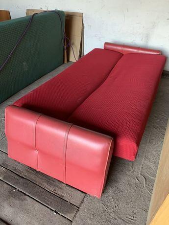 Wersalka tapczan łóżko czerwona