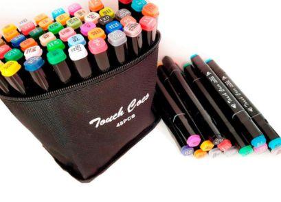 Набір скетч маркерів для малювання Touch Raven 48 PCS, двосторонні