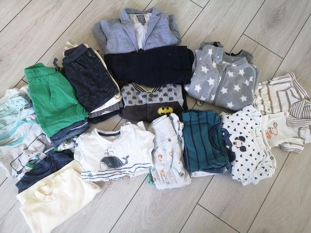 Zestaw ubrań dla chłopca r74, 80 30 szt plus gratis