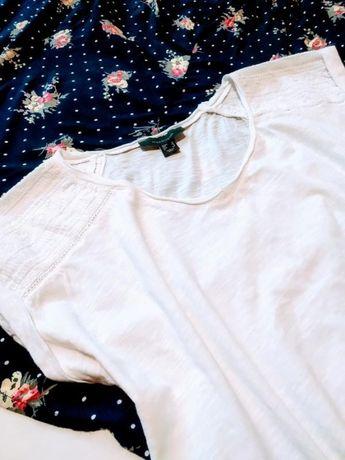 Футболка белая майка блузка хлопок блуза прошва Atmosphere