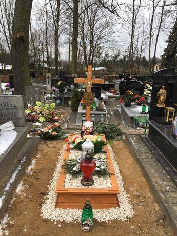 DNT Obudowa Grobu/Nagrobek Drewniany KOMPLET KRZYŻ