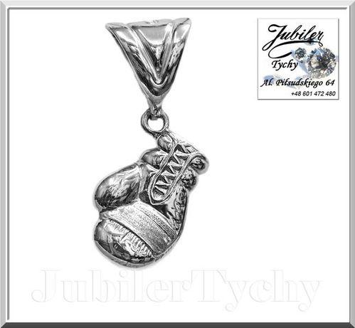 Srebrna rękawica bokserska srebro 925 przywieszka boks Jubiler Tychy