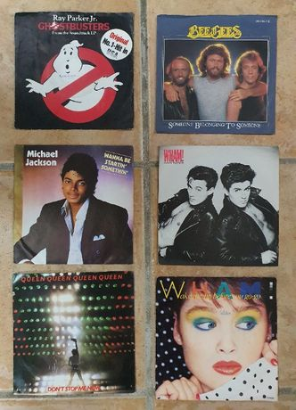 Conjunto discos de vinil 45 rpm