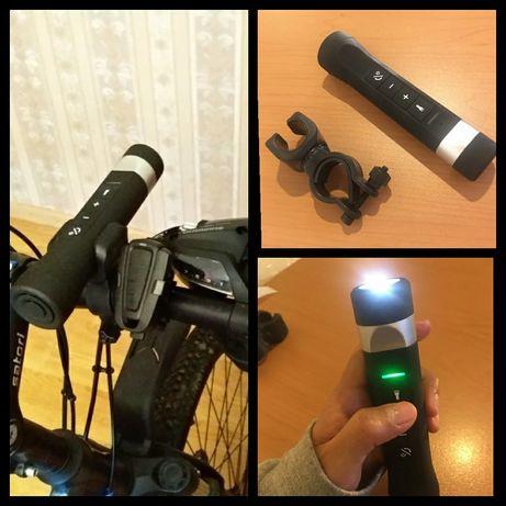 Nowy głośnik 5w1 bluetooth radio MP3 latarka rower powerbank karta SD