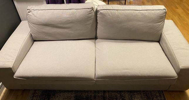Kanapa sofa trzyosobowa jasnoszara KIVIK stan bardzo dobry Ikea