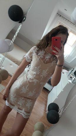 Koronkowa sukienka, komunia, wesele, chrzciny, koronka