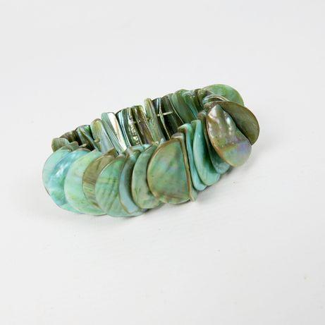Turkusowa bransoletka z naturalnej masy perłowej