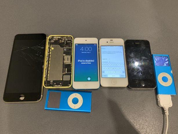 Лот iPhone 7 plus 5c 4 4s iPod Touch Nano