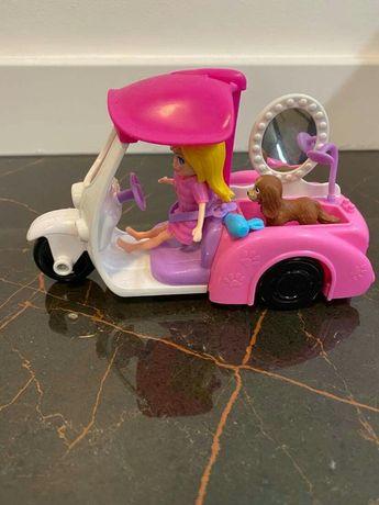 Polly Pocket laleczka auto salonik piesek GM10
