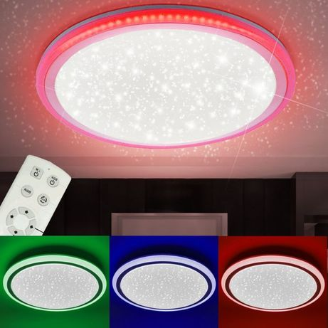 Plafon gwieździsty RGB LED LUISA pilot Leuchten Direkt 15220-1