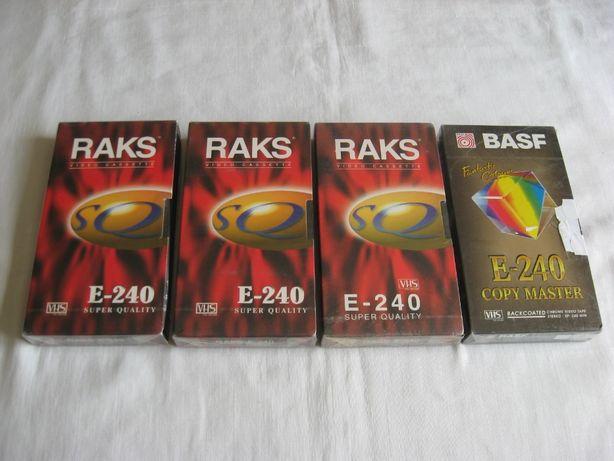 Кассеты видео с записью Panasonic, Sony, RAKS, SKC (180 - 240 мин)
