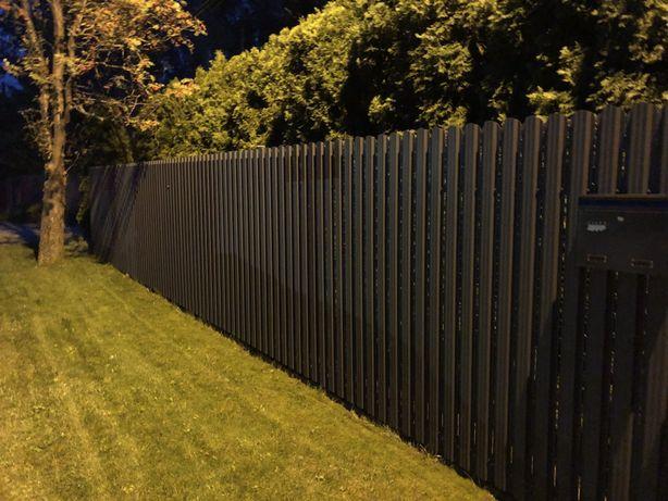 Sztachety metalowe blaszane - ogrodzenie - PRODUCENT