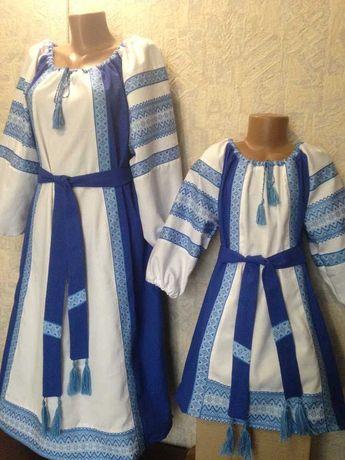 Платье вышиванка для детей и взрослых