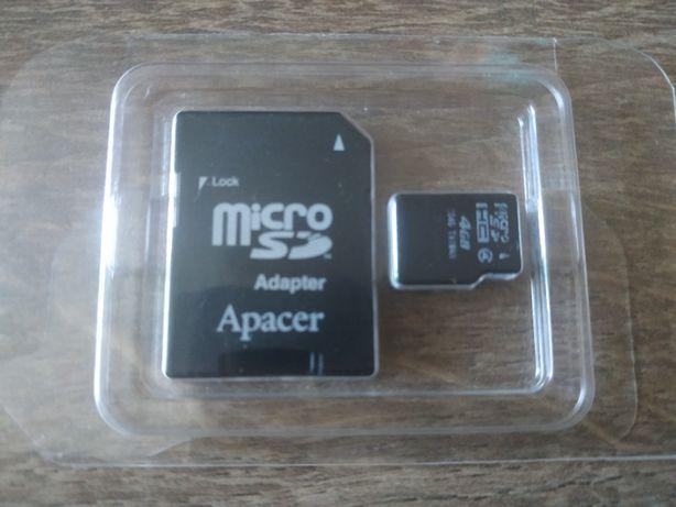 Флешка MicroSD card 4gb карта памяти