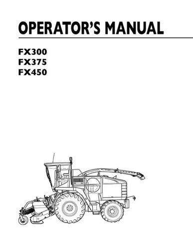 Instrukcja obsługi sieczkarnia New HOLLAND FX 300, 375, 450