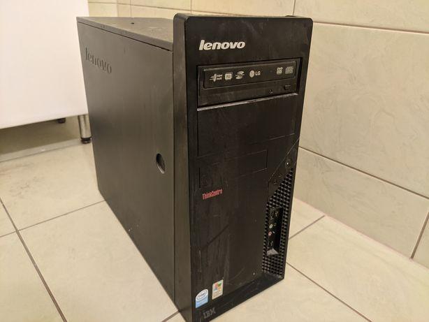 Obudowa Lenovo IBM ThinkCentre z płytą główną.