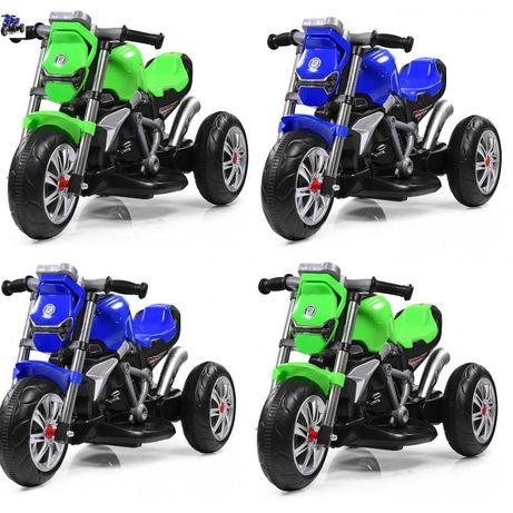 Дитячий триколісний мотоцикл «Bambi» M 3639-5 зелений,синій  1 -3 роки
