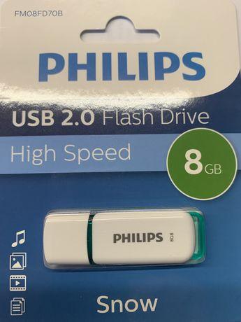 Pen 8gb capacidade philips selado