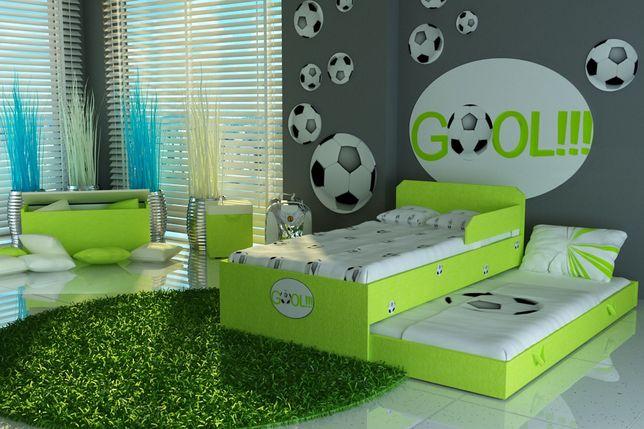 Łóżko piętrowe-wysuwane dla dzieci z piłką nożna,2 materace w cenie.