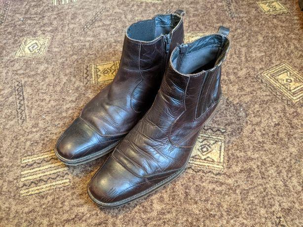 Кожаные ботинки (каучук)