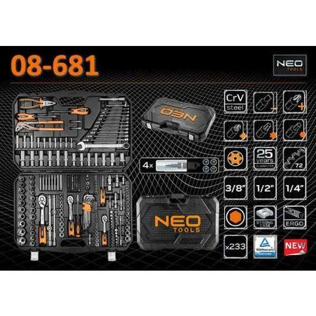 Набор инструментов NEO Tools 08-681 233 шт. Польща!